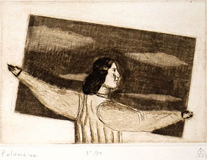 有元利夫「Polonaise:7つの音楽」銅版画