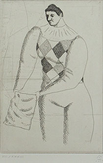 有元利夫「8pieces d'ARLEQUINES #62」銅版画