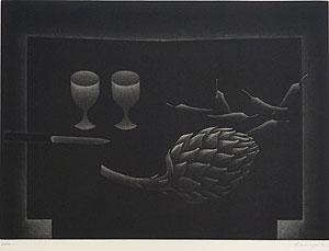 浜口陽三「あざみ」銅版画 1957年