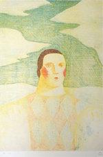有元利夫「夏:Les QUATRES SAISONS」版画40×27.5cm