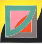 フランク・ステラ「REFERENDUM '70」版画81×81cm