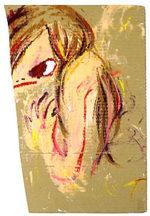 ロッカクアヤコ「anger」アクリル55×35cm