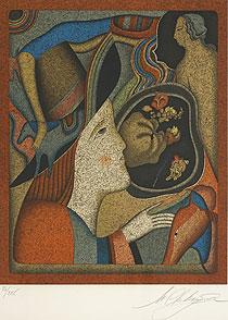 ミハイル・シュミアキン「サンクトペテルブルクのカーニバル」版画