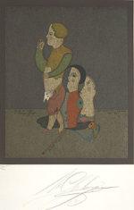 シュミアキン「カーニバルのキャラクター」版画53×42cm