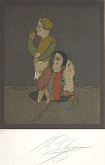 ミハイル・シュミアキン「カーニバルのキャラクター」版画