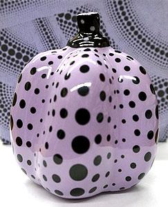 草間彌生「かぼちゃ(紫・黒)」リモージュ