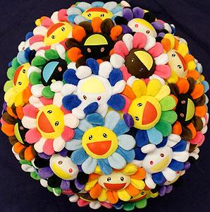 村上隆「Plush Flowerball」立体
