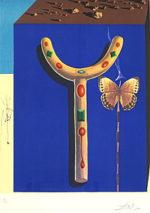 サルバドール・ダリ「シュールレアリストの松葉杖」版画53×41cm