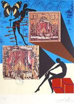 サルバドール・ダリ「シュールレアリスムのファッション」版画53×41cm
