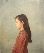藤井勉「少女像」油彩15号