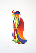 靉嘔「じゅろうじん」版画45.5×31.4cm