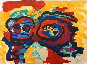 カレル・アペル「母と少年」版画