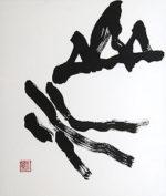 金澤翔子「山水」書41×35cm