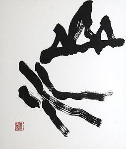 金澤翔子「山水」書