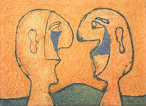 ルフィーノ・タマヨ「二人の人物」銅版画