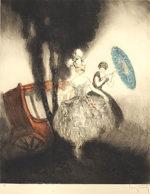 ルイ・イカール「馬車」銅版画54.6×44.8cm