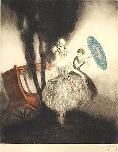 ルイ・イカール「馬車」銅版画