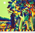 靉嘔「虹使い」版画54.5×62cm