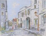 モーリス・ユトリロ「モンマルトル:コルト通り」版画14.5×19.5cm