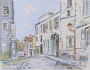 モーリス・ユトリロ「モンマルトル:コルト通り」版画
