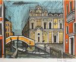 ベルナール・ビュッフェ「スコーラ・サン・マルコ」版画50.5×65cm