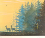 千住博「早春の譜」版画32×41cm