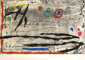 ジョアン・ミロ「岸壁の軌跡 I」銅版画
