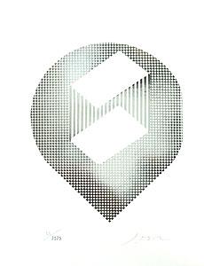 小田襄「球形宇宙」版画