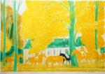 アンドレ・ブラジリエ「黄金の秋」版画71.3×100.3cm