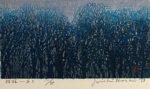 星襄一「樹林-あさ」木版画 1973年