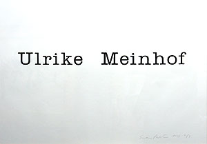 サイモン・パターソン「Ulrike Meinhof」版画