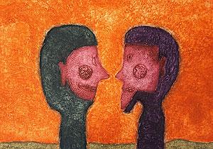 ルフィーノ・タマヨ「二つの頭部」銅版画