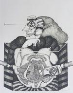 平賀敬「仮面」版画 1981年