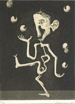 浜田知明「何とかなるさ」銅版画 1976年