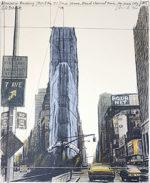 クリスト「タイムズスクエア」版画 1985年