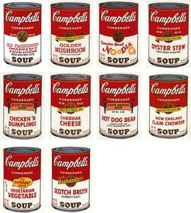 アンディ・ウォーホル「キャンベルスープ II」版画