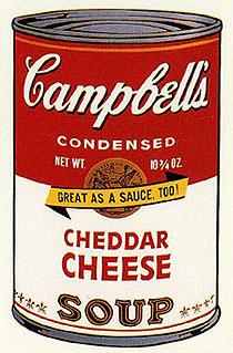 アンディ・ウォーホル「チェダーチーズ:キャンベルスープ II」版画