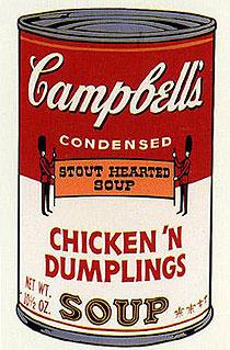 アンディ・ウォーホル「チキン・アンド・ダンプリングス:キャンベルスープ II」版画