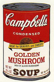 アンディ・ウォーホル「ゴールデン・マッシュルーム:キャンベルスープ II」版画