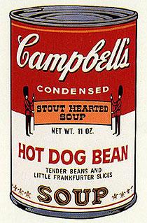 アンディ・ウォーホル「ホットドックビーン:キャンベルスープ II」版画
