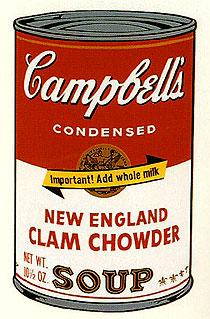 アンディ・ウォーホル「ニューイングランド・クラムチャウダー:キャンベルスープ II」版画