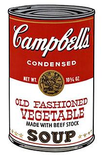 アンディ・ウォーホル「オールド・ファッション・ベジタブル:キャンベルスープ II」版画
