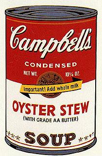 アンディ・ウォーホル「オイスターシチュー:キャンベルスープ II」版画