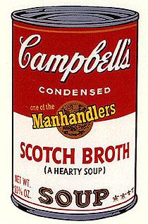 アンディ・ウォーホル「スコッチブロス:キャンベルスープ II」版画