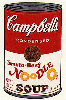 アンディ・ウォーホル「トマト・ビーフ・ヌードル:キャンベルスープ II」版画