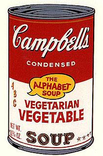 アンディ・ウォーホル「ベジタリアン・ベジタブル:キャンベルスープ II」版画