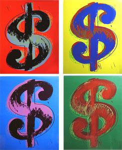 アンディ・ウォーホル「$$$$ Dollar $$$$:ドル」版画