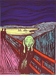 """アンディ・ウォーホル「""""The Scream""""Portfolio(Green)」"""