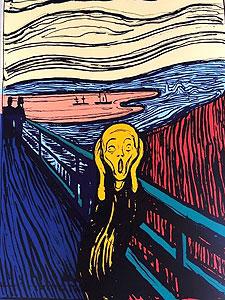 """アンディ・ウォーホル「""""The Scream""""Portfolio(Orange)」"""