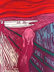 """アンディ・ウォーホル「""""The Scream""""Portfolio(Pink)」"""